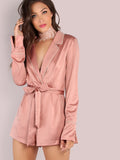Pink Satin Rose Gold Romper