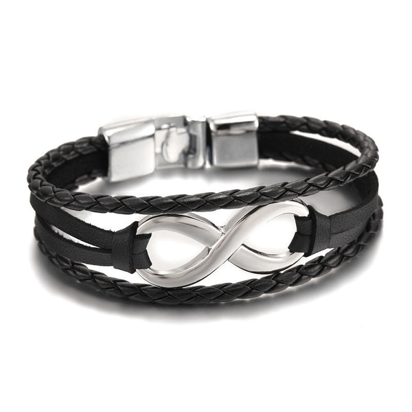 Infinity Leather Chain Bracelet [6 Variations]