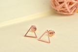 Simple Hollow Triangle Earrings For Women
