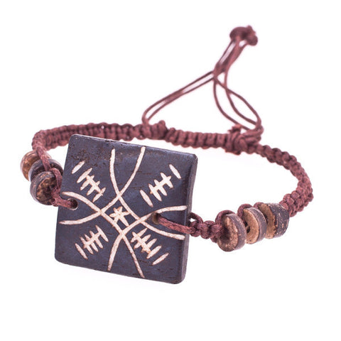 Adjustable Totem Square Tibetan Bone Bracelet
