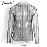 Casual Transparent Shirt Tops