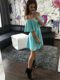 ‰÷  Mint Strapless Casual  Off Shoulder Mini Dress ‰÷