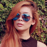 PREMIUM RETRO FLASH COLOR MIRRORED LENS AVIATOR SUNGLASSES 1488e-A