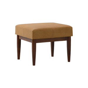 Bergen Faux Leather Ottoman Bombay Brown