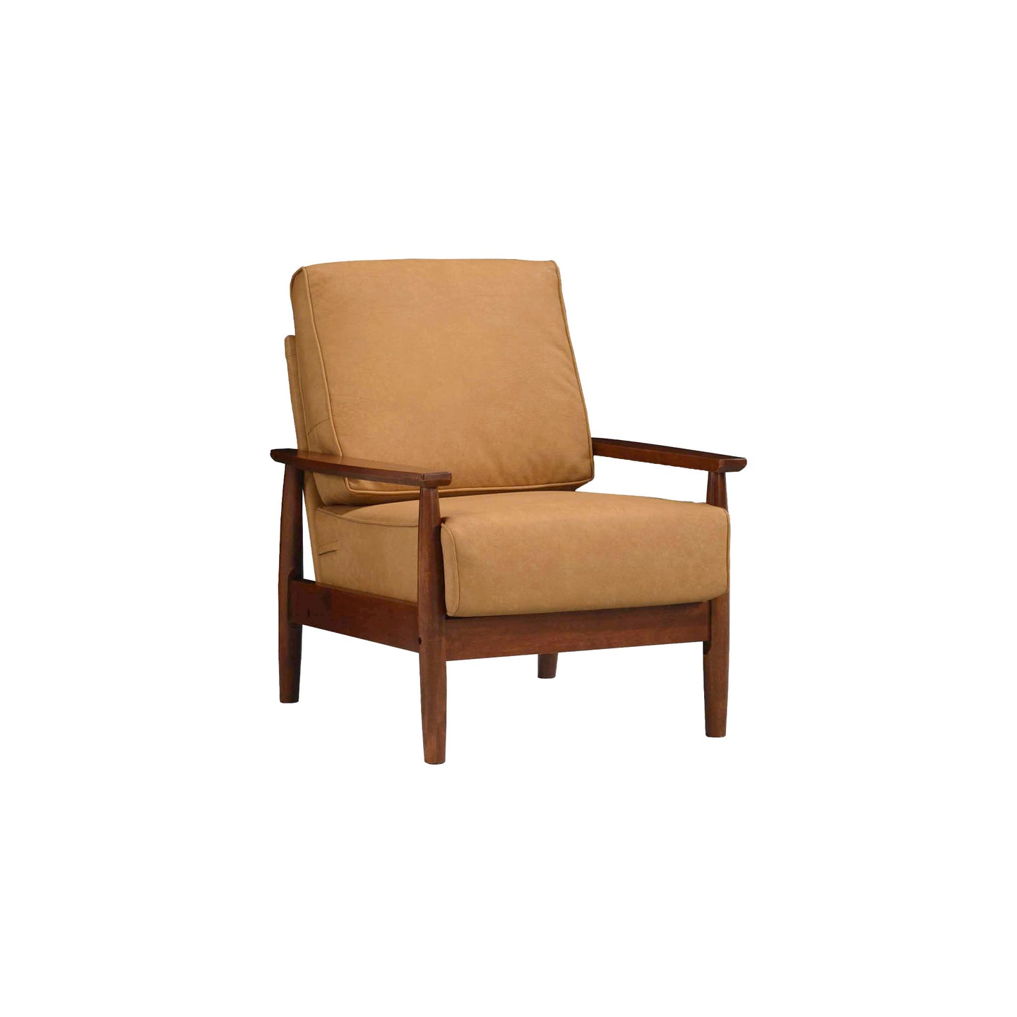 Bergen Faux Leather Armchair Bombay Brown