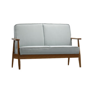 Oslo Mid Century Modern Light Blue Loveseat