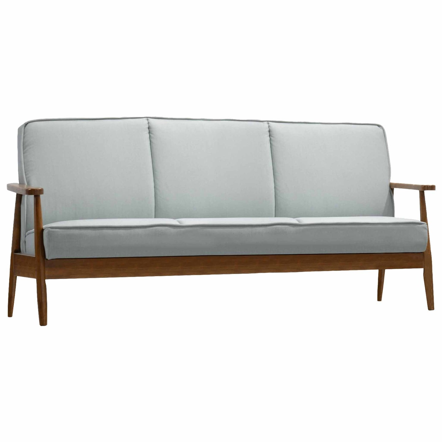 Oslo Mid Century Modern Light Blue Sofa