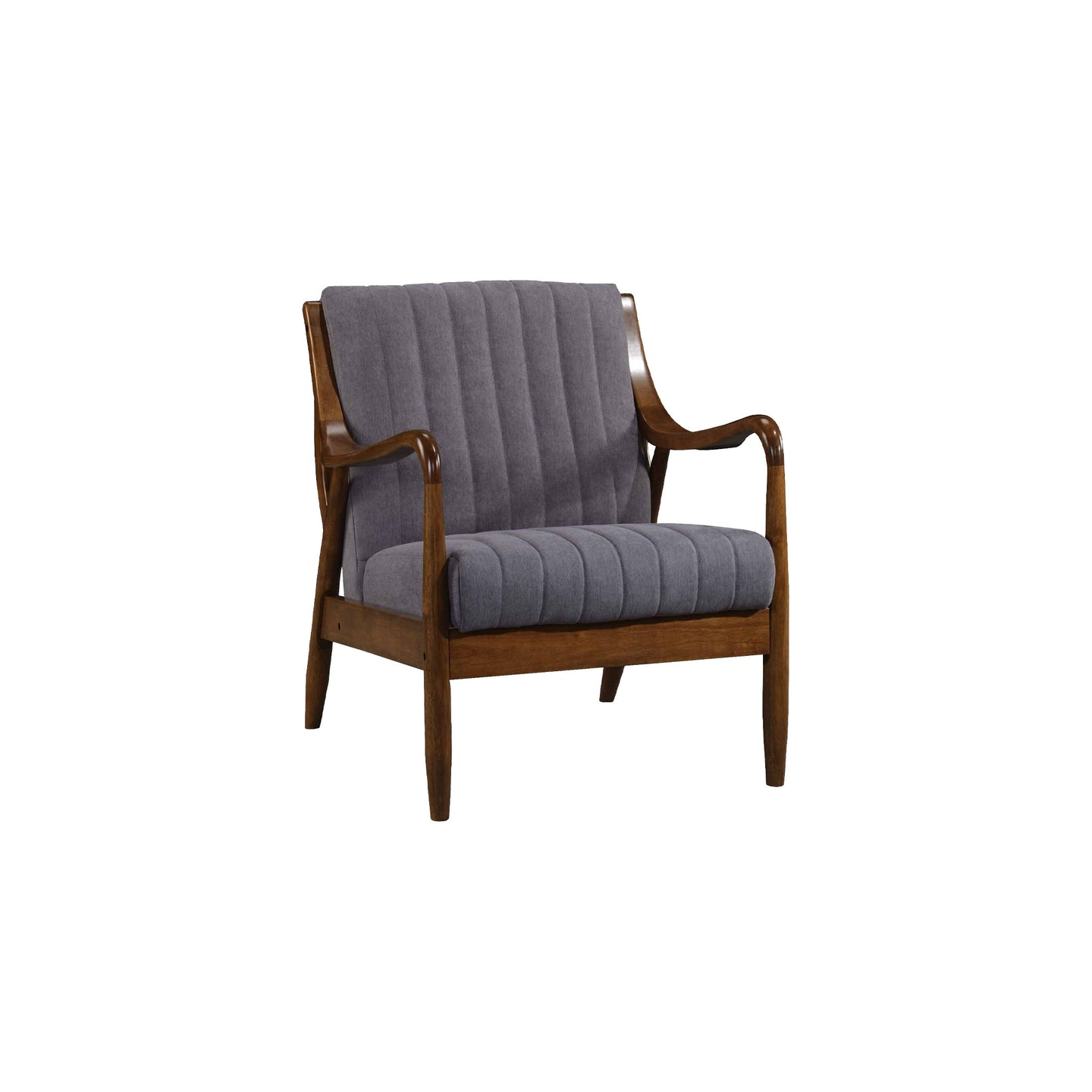 Marianna Mid Century Modern Gray Accent Chair