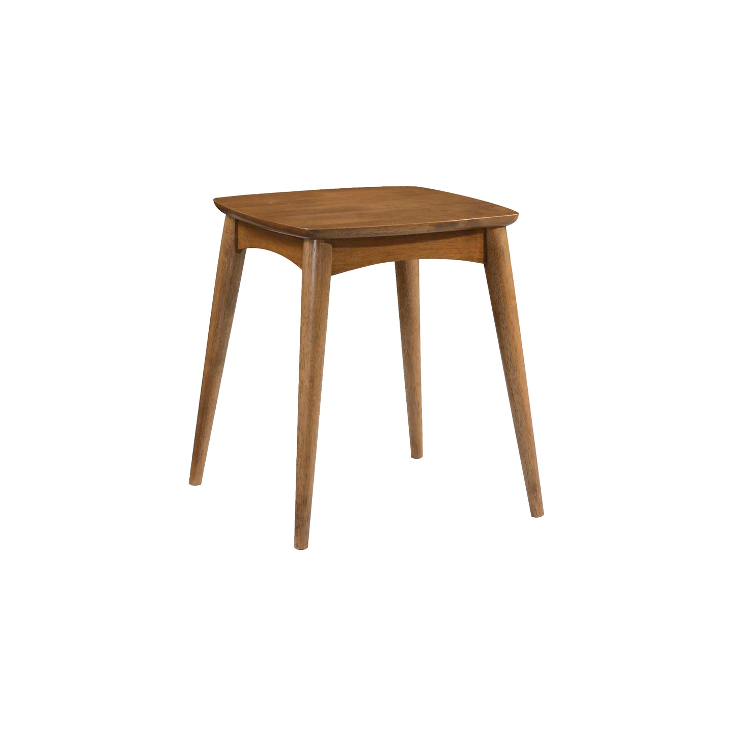 Oslo Mid Century Modern Walnut Side End Table