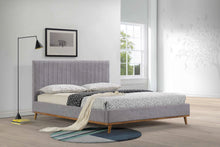 Abigale Gray Queen Upholstered Bed Frame