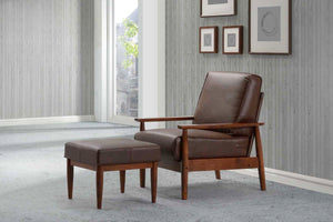 Bergen Brown Faux Leather Armchair
