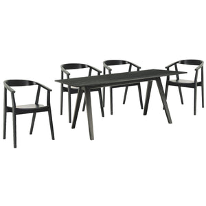Kamran 5 Piece Dining Set Black