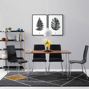 Barrie 5 Piece Dining Set Black