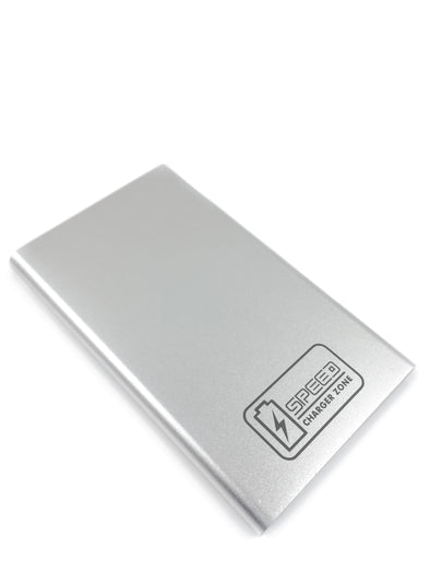 Compact Portable Charger | Silver | 2,600 mAh