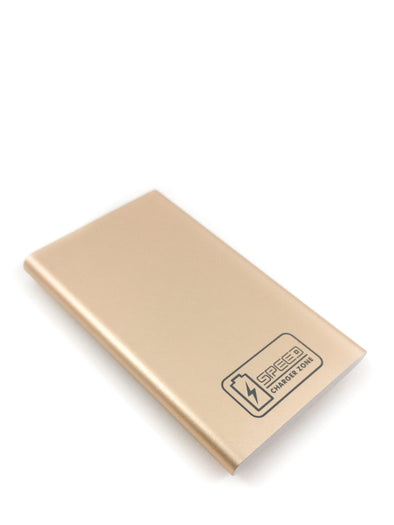 Compact Portable Charger | Gold | 2,600 mAh