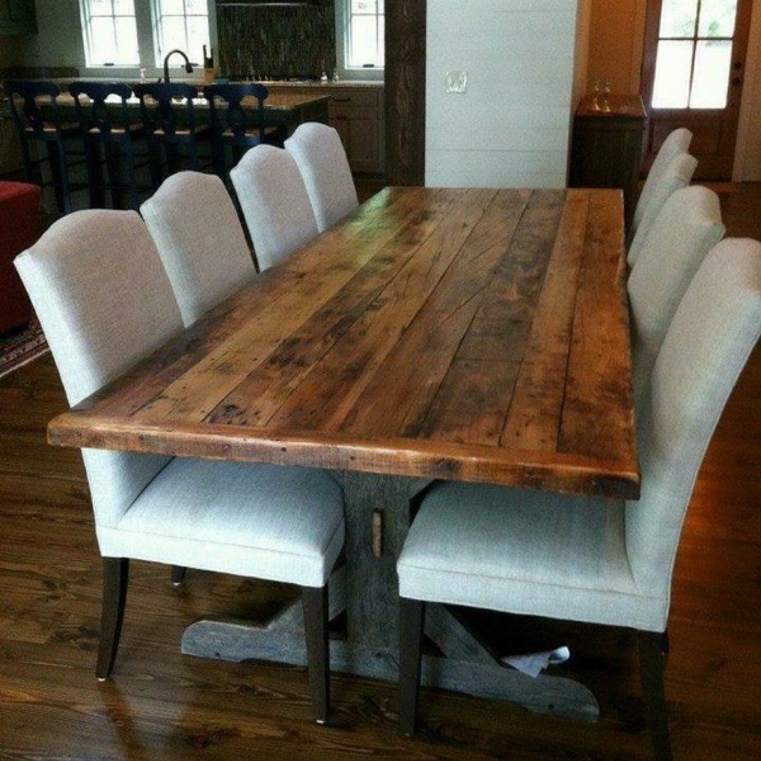 Products Farm Tables Of The South - Salvaged wood farmhouse table