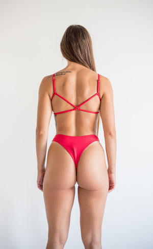 angel bottom - lava red