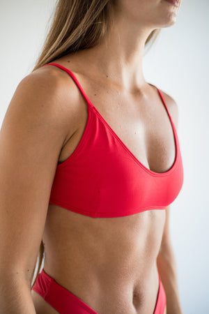 angel top - lava red