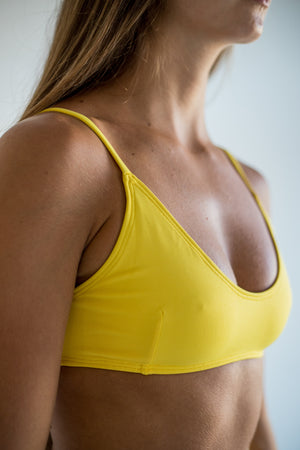 angel top - lemon yellow