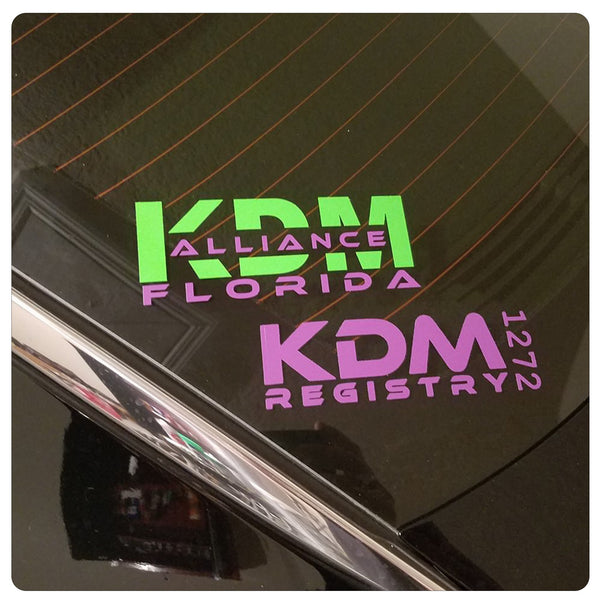 KDM Registry Sticker