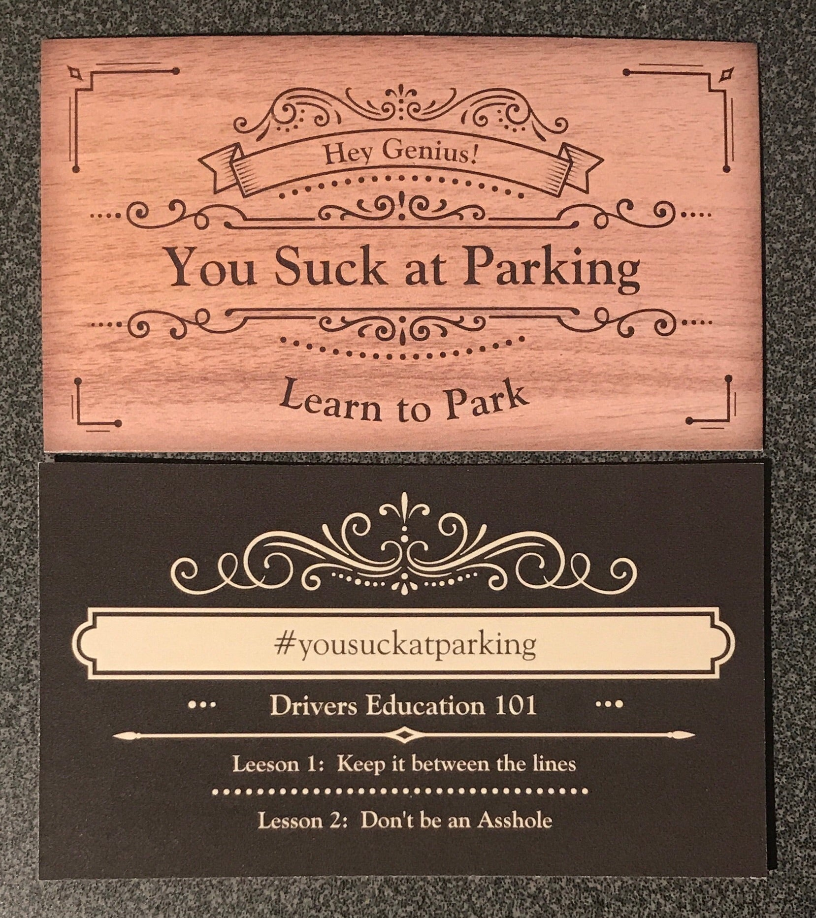 Business Cards - You Suck at Parking