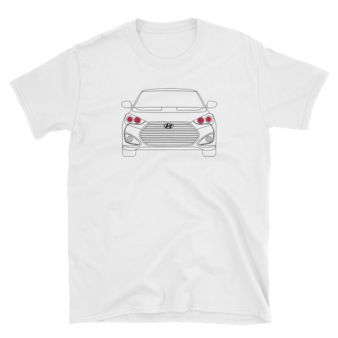 Line Art Veloster T-Shirt (no fill color)