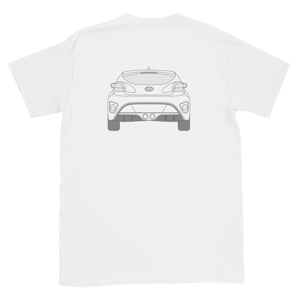 Veloster Line Art front and back t-shirt