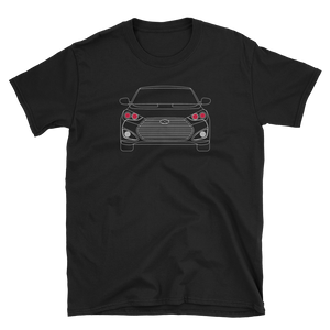 Demon Eye Line Art Veloster T-Shirt (no fill color)