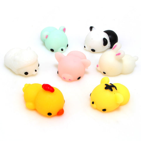 1 PCS Kawaii Animal Slow Rising Squishy Panda/tiger/pig/sheep/duck/rabbit/chick - SquishyWishy
