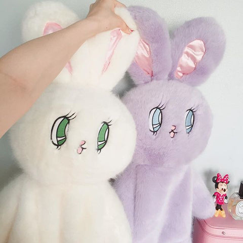Plush cartoon kawaii Bunny Rabbit Backpack - SquishyWishy