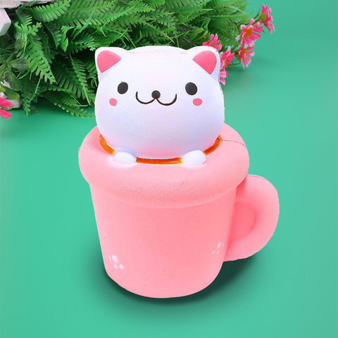 Cute Cup Kawaii Cat Squishy - SquishyWishy