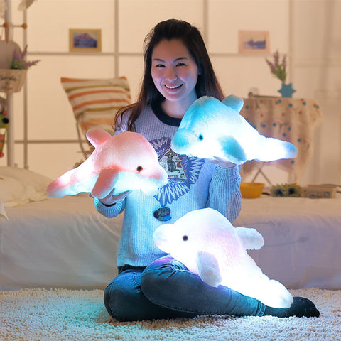 Colorful LED Dolphin plush Pillow - SquishyWishy