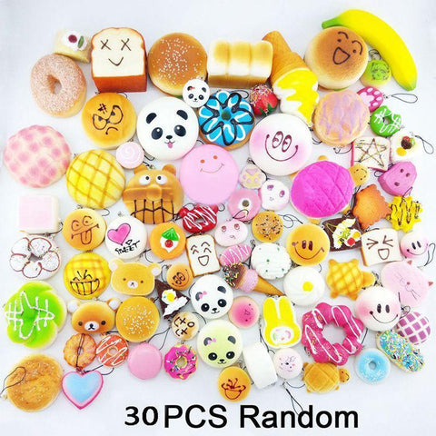 30Pcs/lot Slow Rising Squishies 30 Random Pieces - SquishyWishy