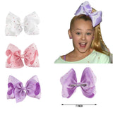 "1 Set (3pcs) 7"" Large Rhinestone Hair Bow With Clip - SquishyWishy"