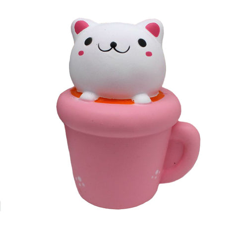 14CM Cute Kawaii Cup Cat - SquishyWishy
