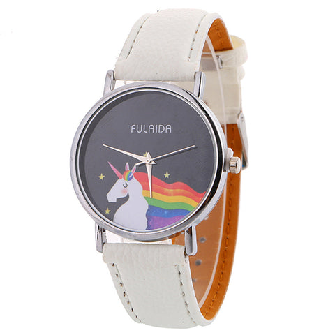Unicorn Quartz Watch Leather Strap