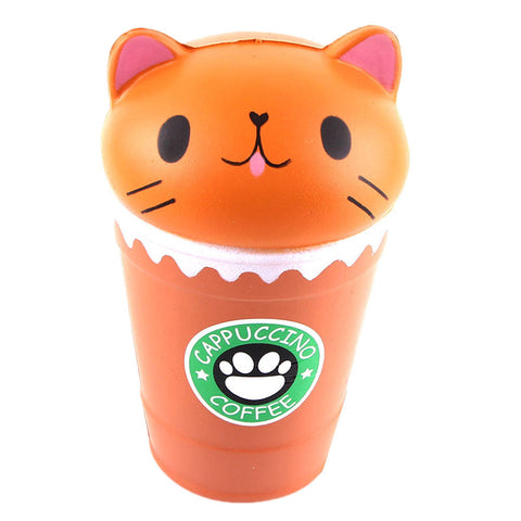 Cappuccino Coffee Cup Cat Scented Squishy Slow Rising - SquishyWishy