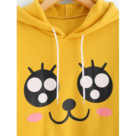 Super Kawaii Yellow Hoody Sweatshirt With Pockets - SquishyWishy