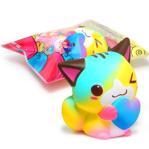 Anti-stress Cute Squishy Charm Slow Rising Unicorn Squishes Cat Cute Dolphin Tooth Kawaii