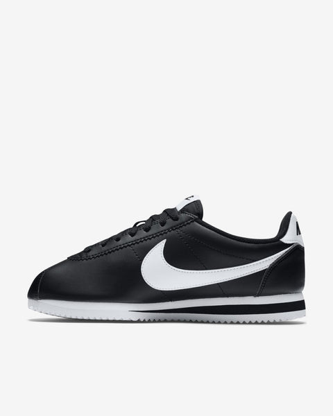 WMNS CLASSIC CORTEZ LEATHER - BLACK/WHITE