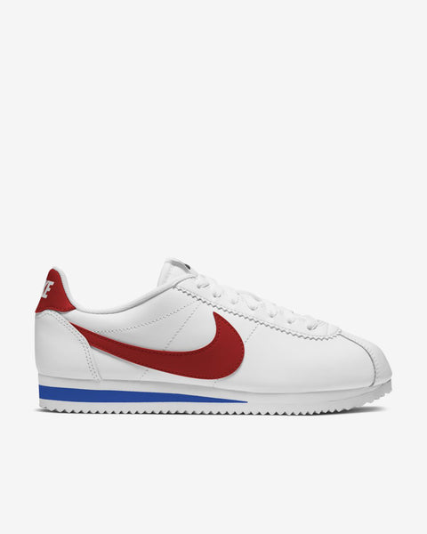 WMNS CLASSIC CORTEZ LEATHER - WHITE/RED