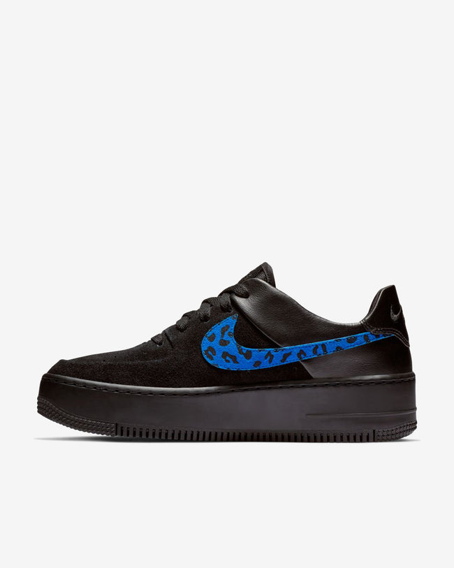 W AIR FORCE 1 SAGE LO PRM - ANIMAL BLACK