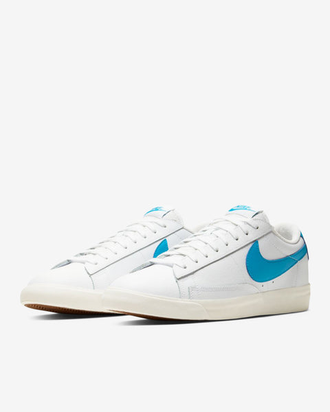 BLAZER LOW LEATHER  - WHITE/LASER BLUE