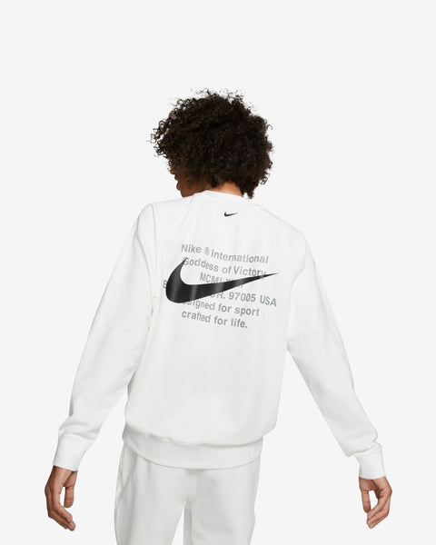 M NSW SWOOSH CRW FT - WHITE/BLACK