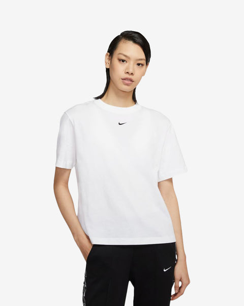 W NSW ESSNTL TOP SS BF - WHITE/BLACK