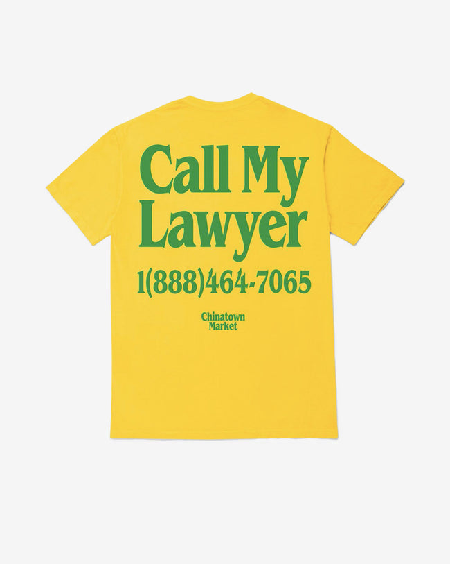 LAWYER T-SHIRT - YELLOW