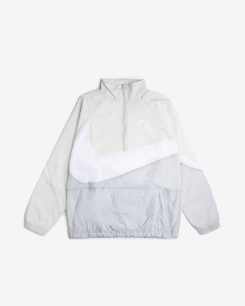 NSW SWOOSH WOVEN HALF ZIP JACKET - WHITE