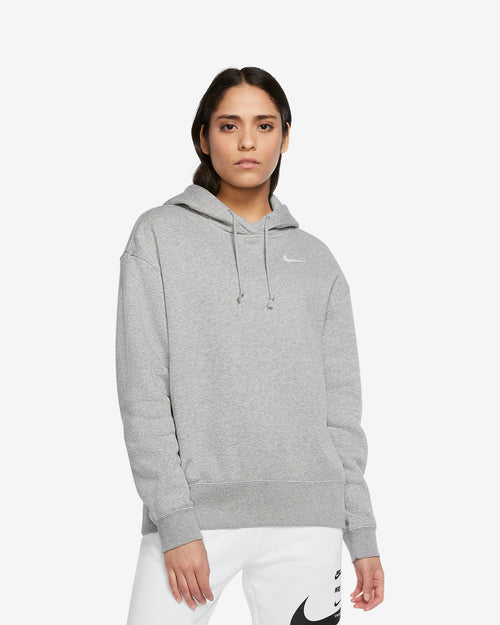 W NSW FLEECE HOODIE - GREY