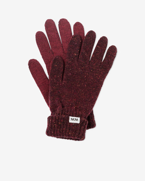 NICO FINGER GLOVES - BURGUNDY