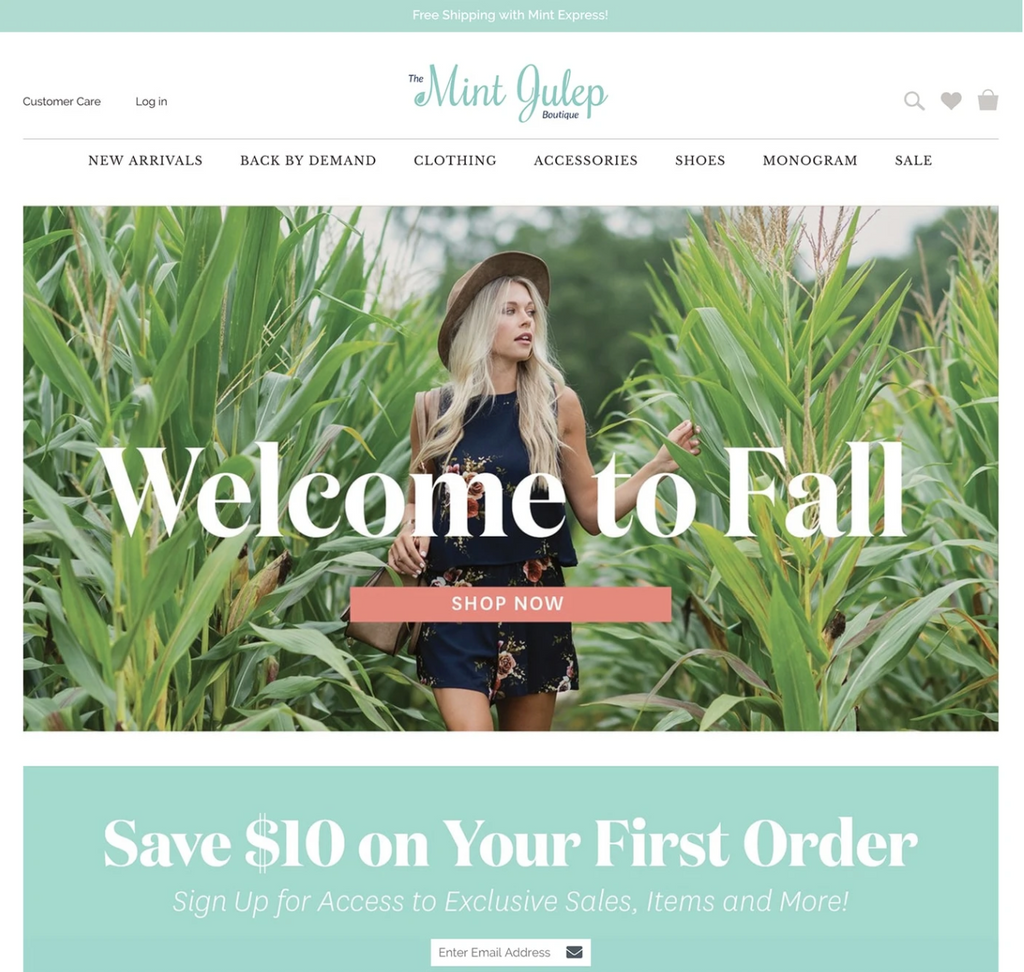 Mint Julep Boutique Homepage